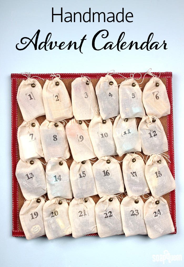 Advent Calendar Handmade : Easy handmade advent calendar soap queen