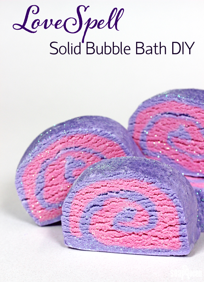 Learn how to make your own solid bubble bath in this easy to follow tutorial. This recipe can be customized with a variety of scents and colors!