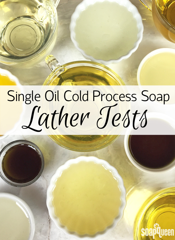 What happens when you make cold process soap with only one oil? This post tests 12 soaps for lather and more.