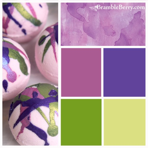 Berry's and Cream fragrance color palette