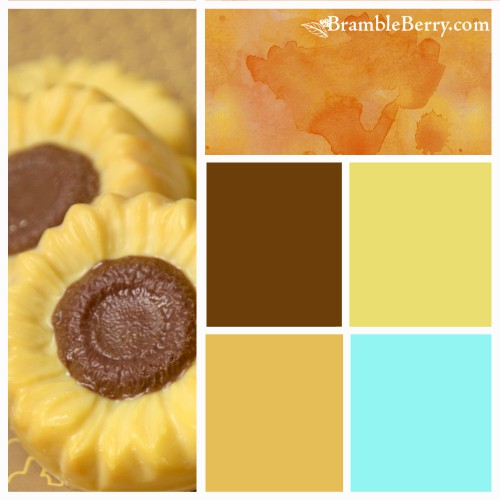 Sunflower fragrance color palette