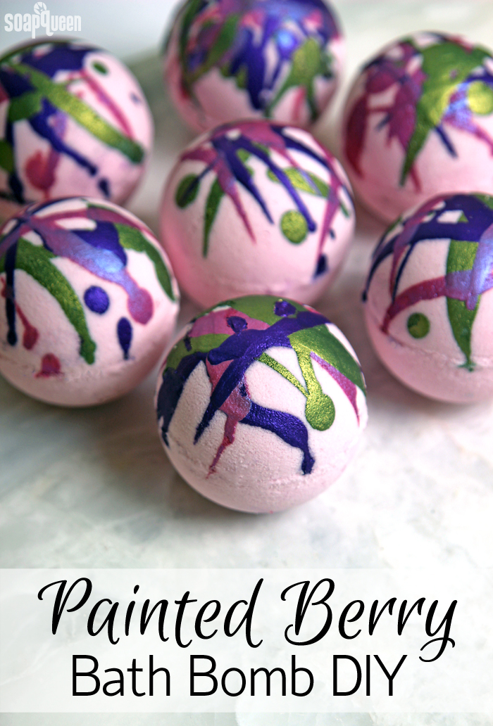 Painted berry bath bombs by Soap queen