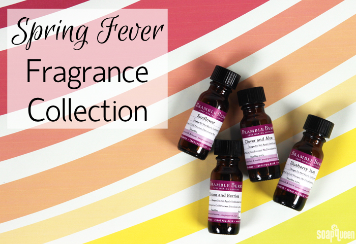 The limited edition of Spring Fever Fragrance Collection includes four new fragrance oils including Sunflower and Blueberry Jam.