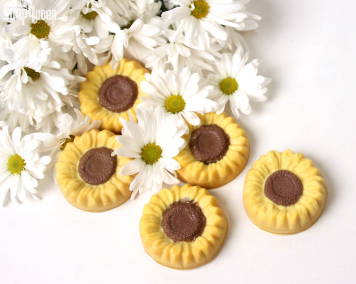 Learn how to make these adorable Sunflower Soaps in this tutorial!
