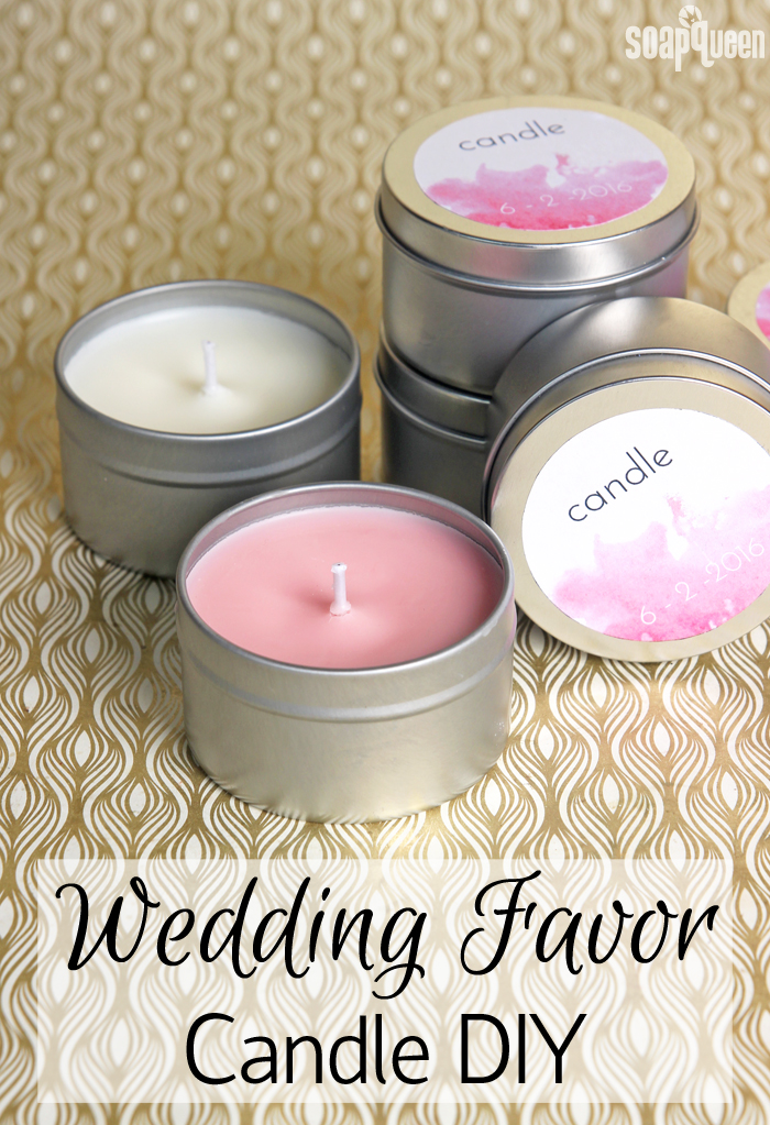 Learn how to create your own candles to give as favors, or use yourself! Tutorial includes a free printable to label your candles.