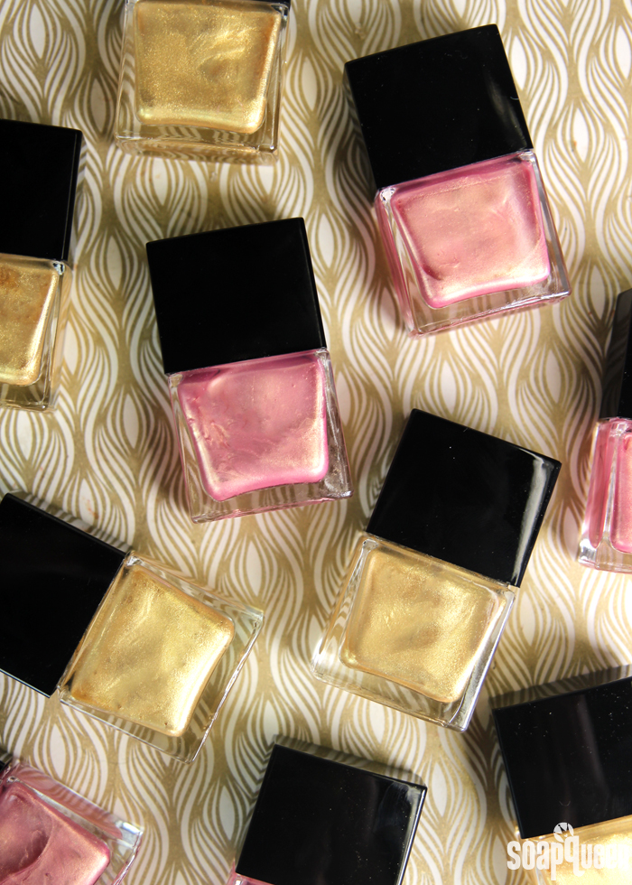 Create your own nail polish to give as wedding favors. Making nail polish is also a great bridal shower activity!