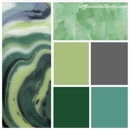Ale and Clover fragrance color palette