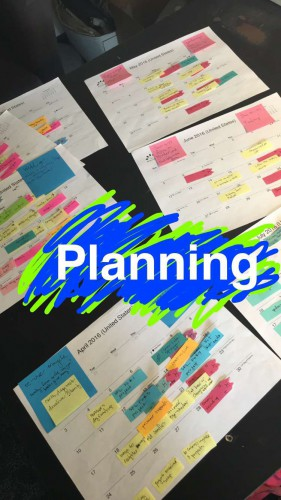 Blog + Promotional Planning Calenders