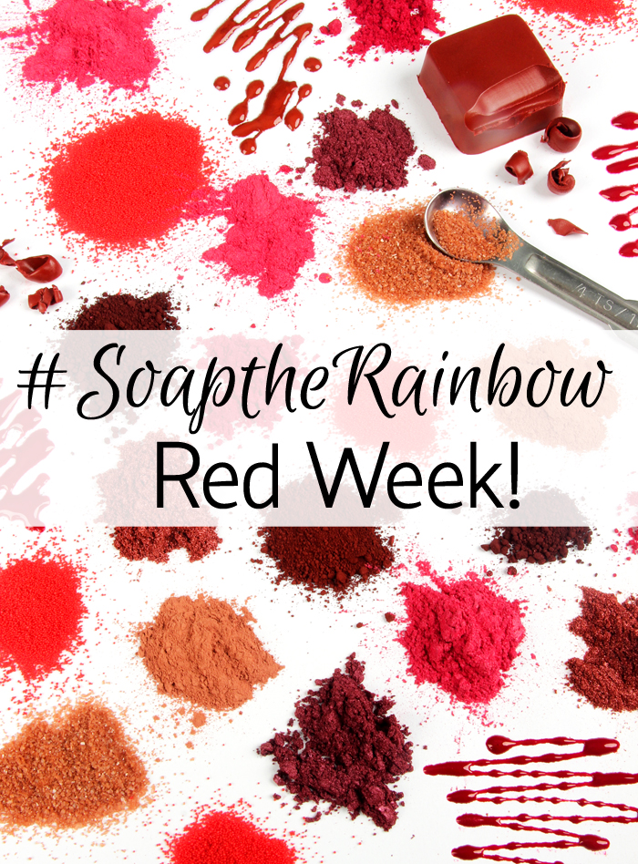 Share projects with the color red and use the tag #SoaptheRainbow to win a Bramble Berry gift certificate!