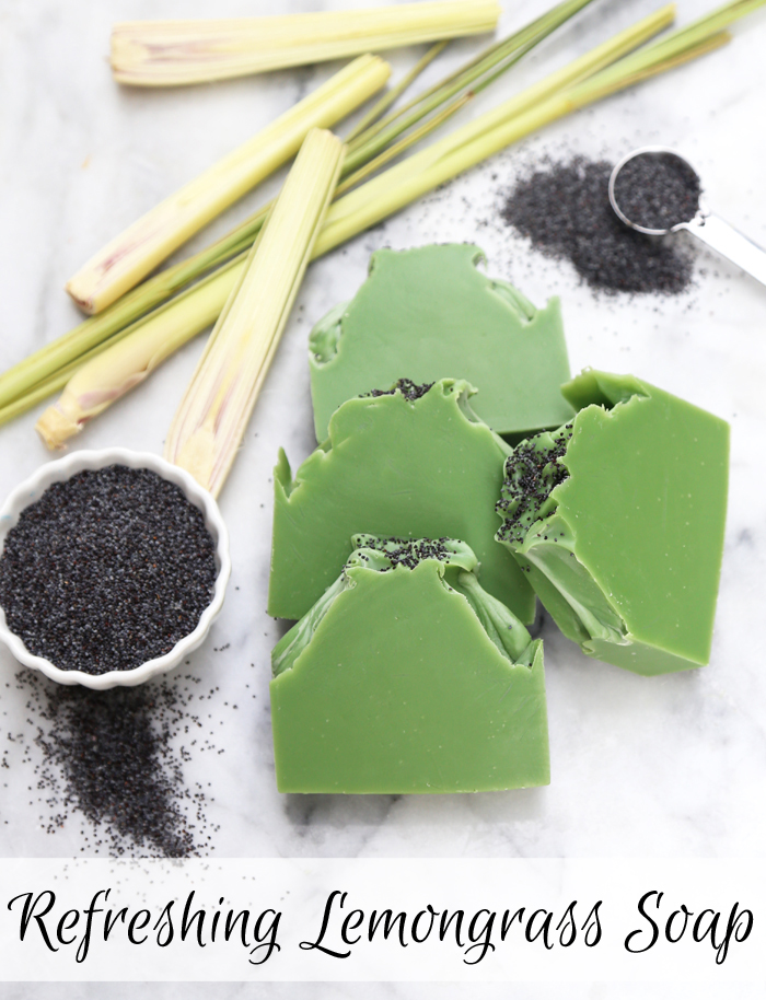 Refreshing Lemongrass Soap Kit /// Learn how to create your own natural soap from scratch using essential oils.
