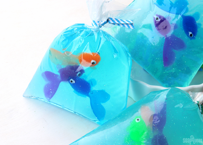 Fish-in-a-Bag Soap Tutorial // Learn how to create these cute fish soaps; kids love them!