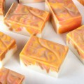 Orange Peel Swirled Soap DIY