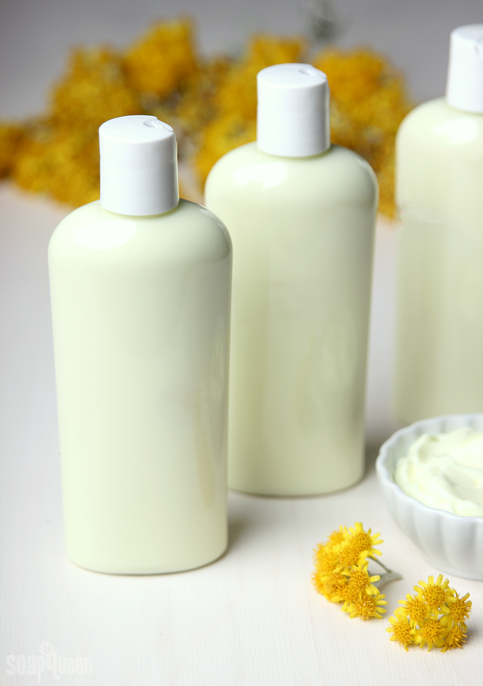 Sunshine Lotion DIY // Learn how to make this creamy lotion with argan oil and sunflower oil.