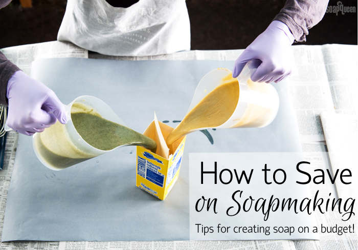 Tips for Soaping on a Budget - learn tips for how to create soap and save money!