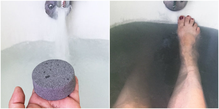 Black Bath Bombs: A Cautionary Tale // Black bath bombs have gone viral, but do they work? Several black bath bomb recipes are put to the test, including black bath bombs made with charcoal.