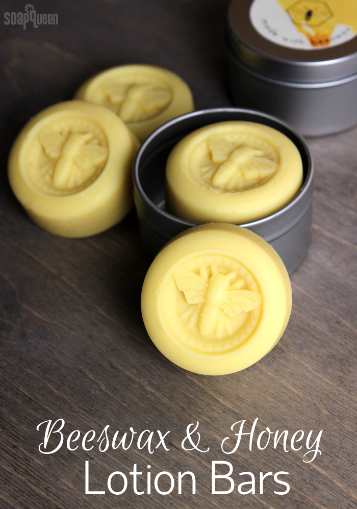 Beeswax and Honey Lotion Bars DIY // Learn how to make these lotion bars with olive oil, shea butter and beeswax.