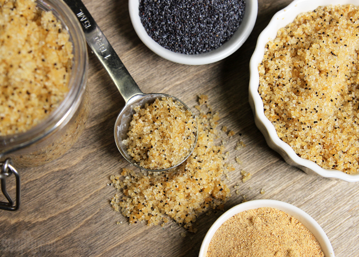 Orange Poppy Seed Salt Scrub Tutorial