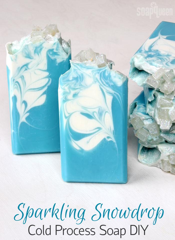 Sparkling Snowdrop Cold Process Soap DIY