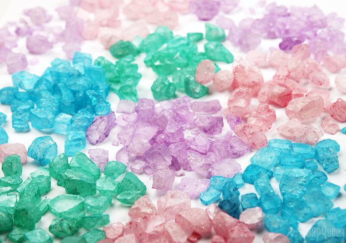 DIY Sparkling Bath Crystals