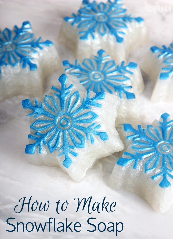 How to Make Snowflake Soap
