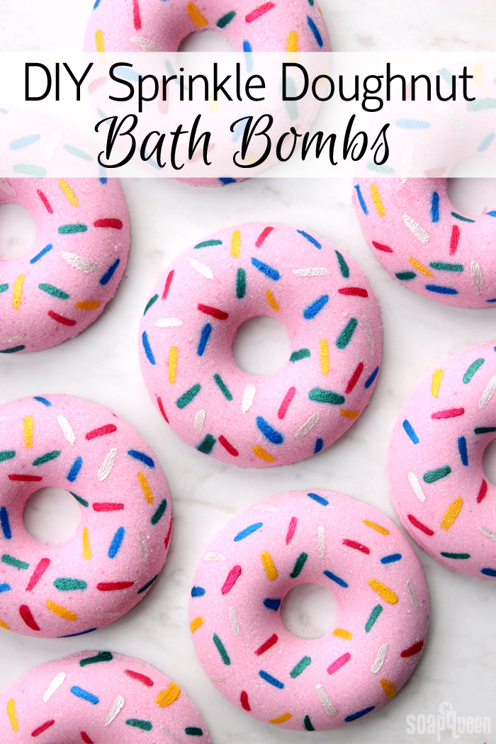 DIY Sprinkle Doughnut Bath Bombs