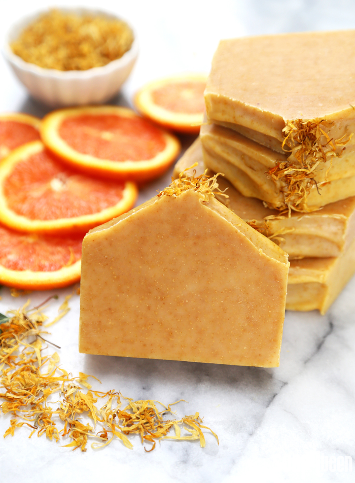 Natural Orange Cold Process Soap Tutorial