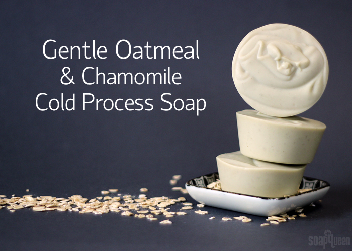 Gentle Oatmeal & Chamomile Cold Process Soap