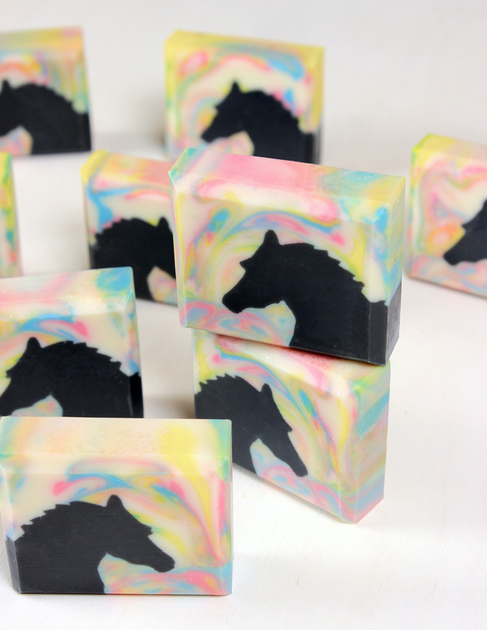 Horse Sculpted Layers Cold Process Soap Tutorial