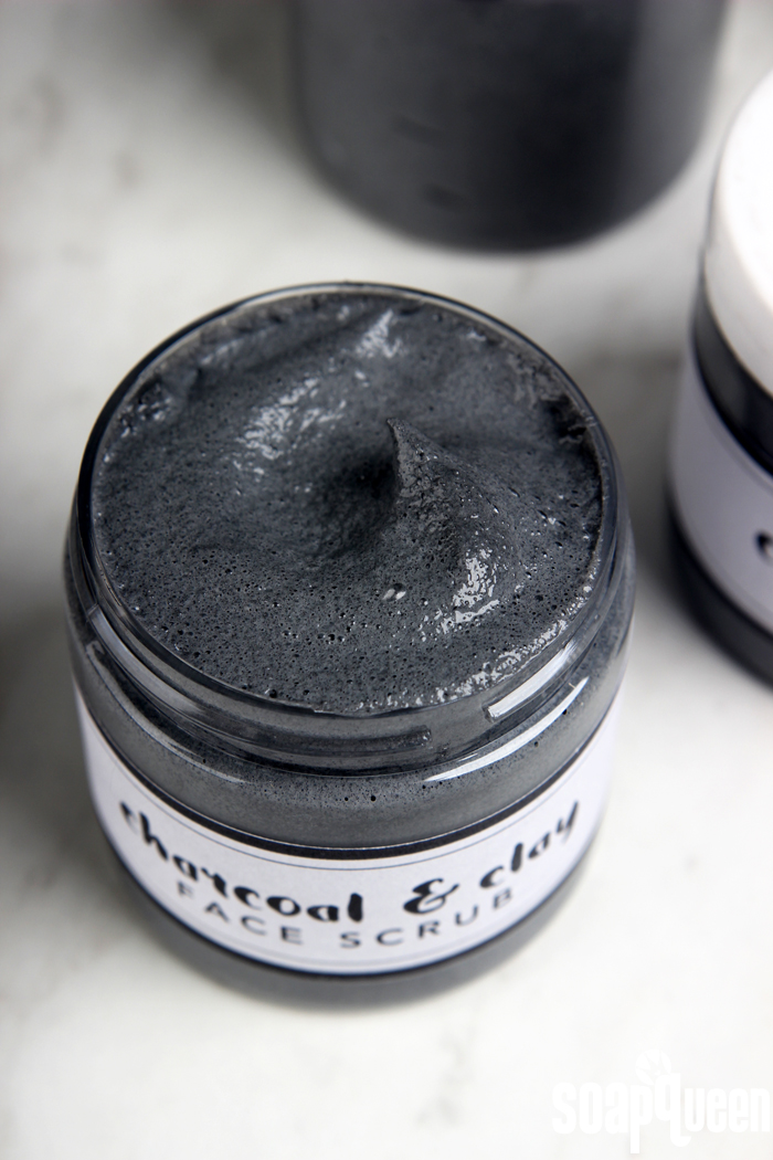 Cleansing Charcoal Facial Scrub DIY