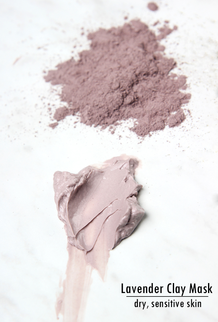 Lavender Clay Face Mask for dry skin