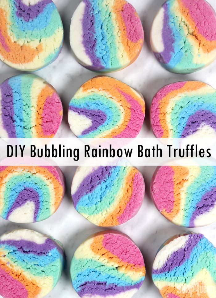 DIY Rainbow Bubbling Bath Melt