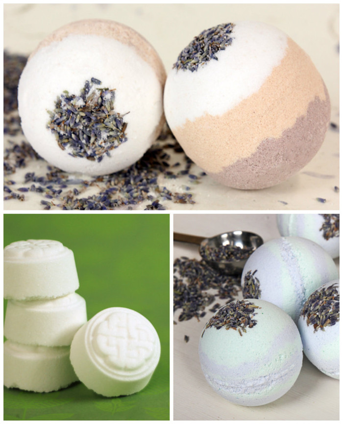 NaturalBathBombCollage