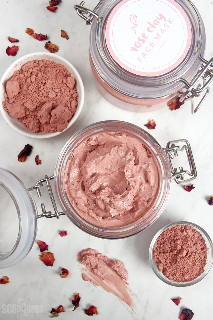 Rose Clay Face Mask DIY
