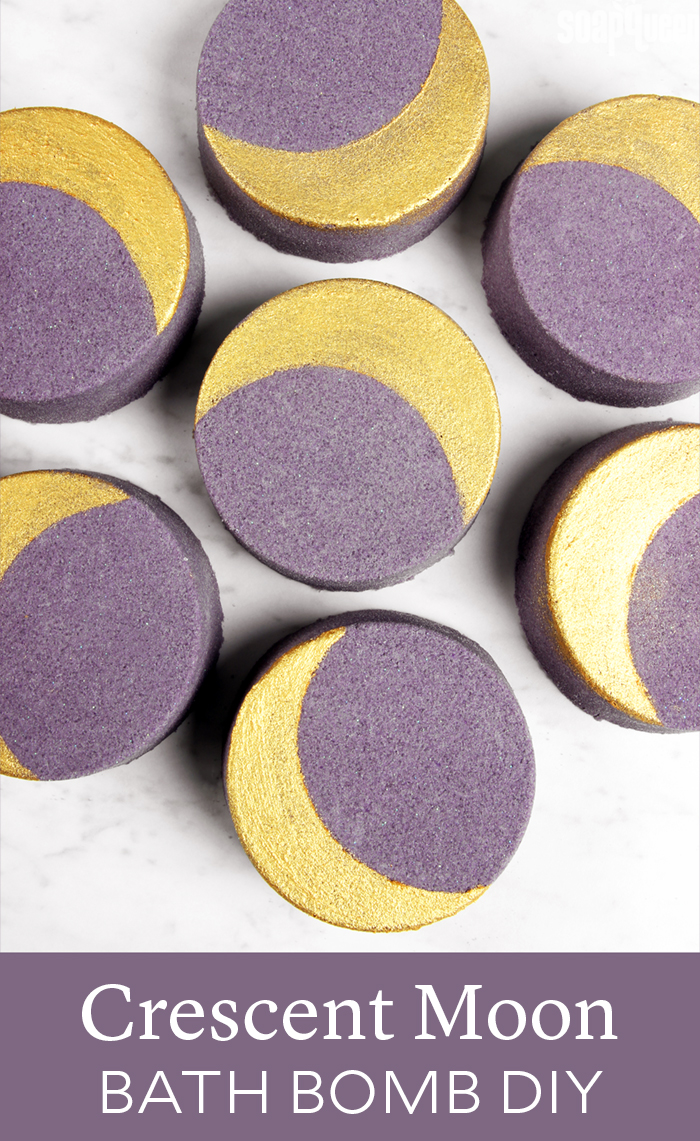 Crescent Moon Bath Bomb DIY