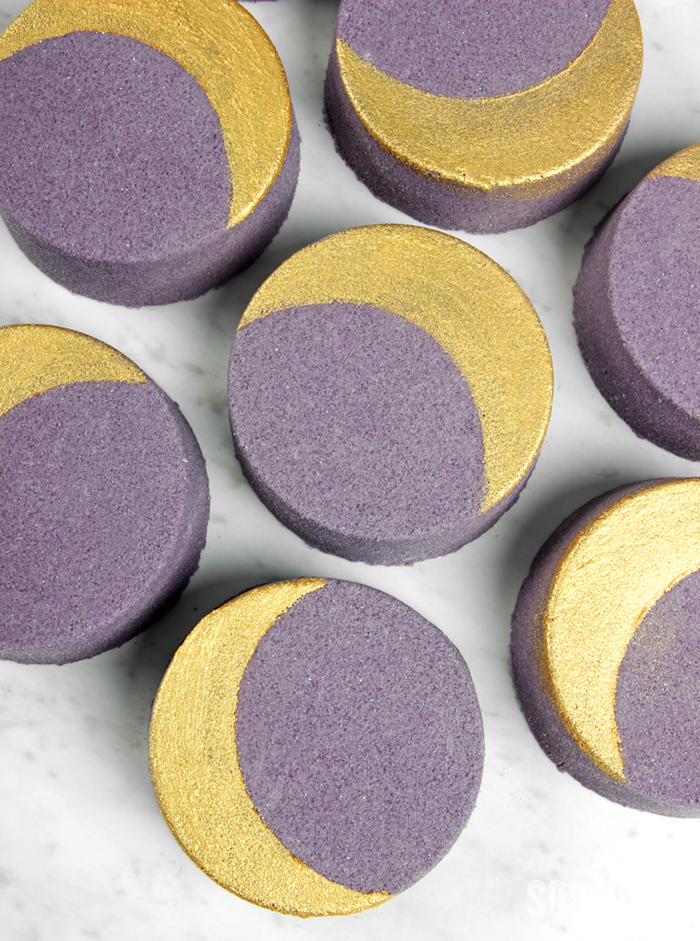 DIY Crescent Moon Bath Bombs