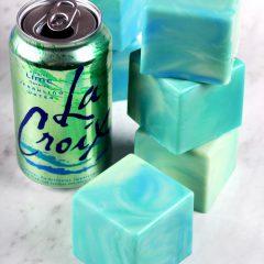 Lime La Croix Soap Tutorial