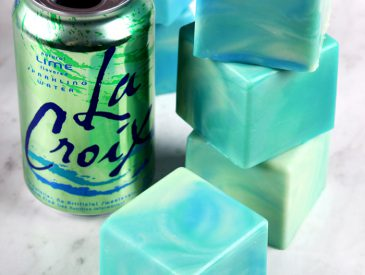Lime La Croix Soap Tutorial