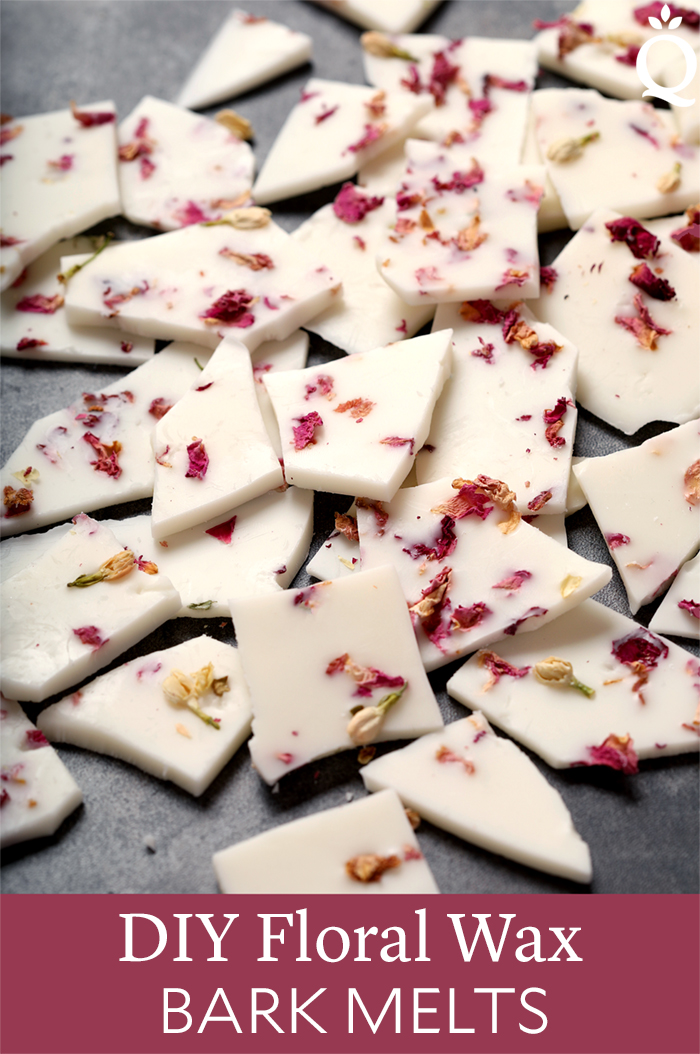DIY Floral Wax Bark Melts