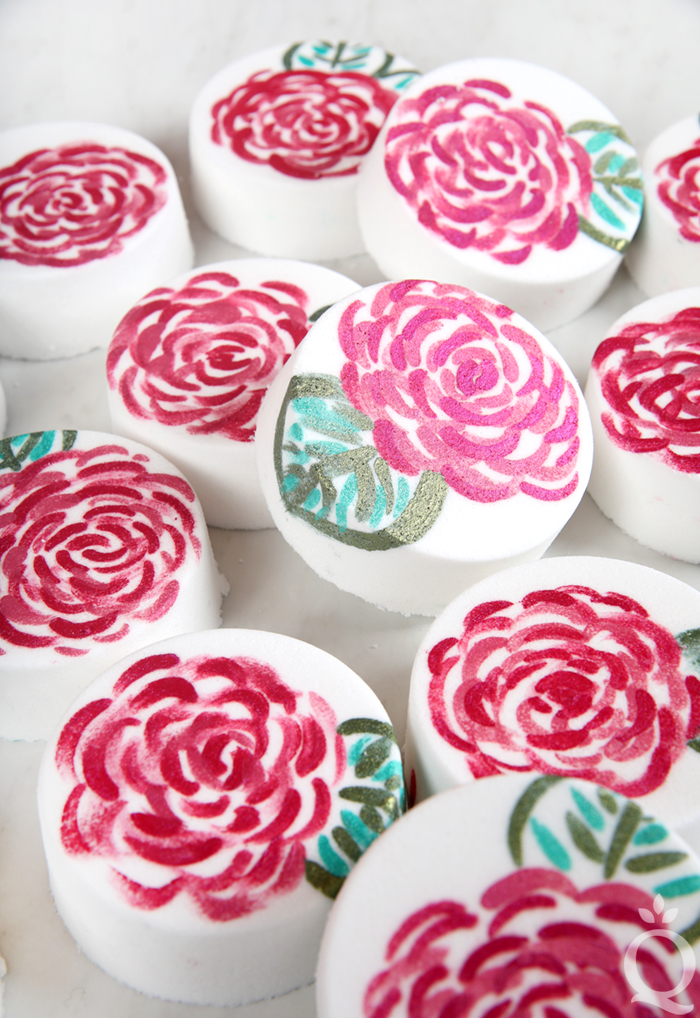 Painted Rose Bath Bomb Tutorial