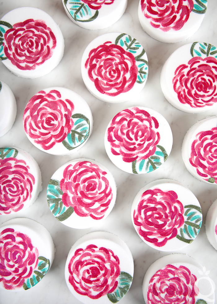 Painted Rose Bath Bombs