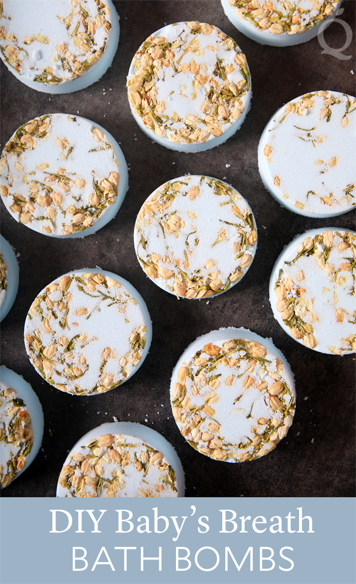 DIY Baby's Breath Bath Bombs