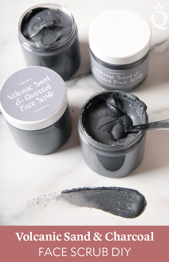 Volcanic Sand and Charcoal Face Scrub DIY